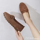 春夏款單鞋女平底鞋防滑舒適牛筋底孕婦寶媽豆豆鞋一腳蹬女瓢鞋子 蘇菲小店