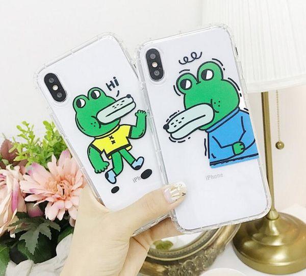 【SZ33】情侶鳄魚氣墊防摔全包軟殼 iphone xs max 保護殼 iphone xs max xr殼iphone 8 plus手機殼