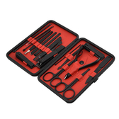 PUSH!居家生活用品指甲剪美甲工具指甲鉗指甲刀修甲護理18件套裝B33