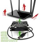 手機降溫小米盒電視貓機頂盒路由器散熱器5V靜音滾珠USB接口風扇     麻吉鋪