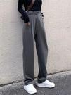 促銷特價 闊腿褲女春秋新款港風大碼高腰直筒西裝褲胖mm顯瘦寬松墜感拖地褲