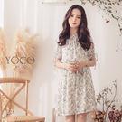 ◆ 兩穿鬆緊一字領平口碎花洋裝,優質雪紡涼感面料,滿版的碎花設計與平口領剪裁,展現浪漫女神風。
