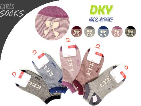GK-2707 蝴蝶結線條船形襪-6雙 台灣製