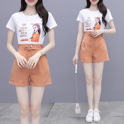 網紅小香風兩件套網紅洋氣闊腿褲套裝女夏季新款小個子時尚穿搭氣質兩件套裝NC11-C1.1號公館