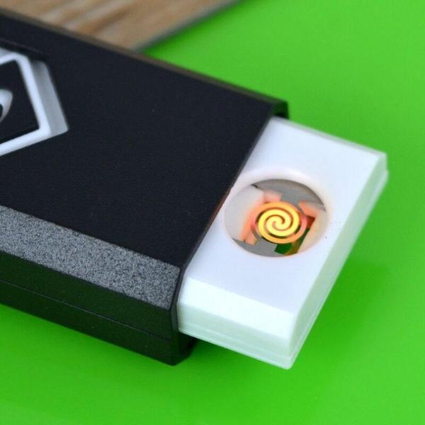【DF228】防風USB點煙器 防風電子點煙器 攜帶型藍光充電式打火機 小夜燈 EZGO商城