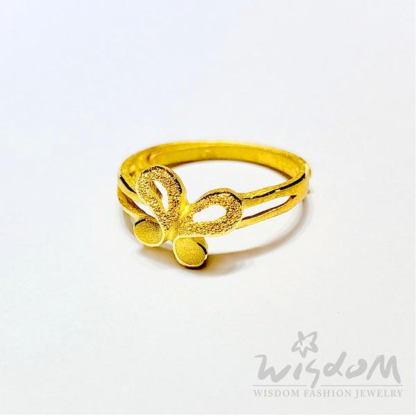 威世登 黃金蝴蝶戒 金重約0.70~0.73錢 GA02735-EEX-FIX