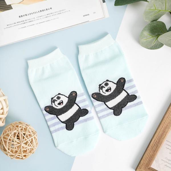 【正韓直送】韓國襪子 熊熊遇見你逗趣短襪 船型襪 三兄弟 阿極 胖達 哈囉喬伊 W10