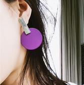耳環 糖果色 金屬 幾何 圓形 圓片 拼接 個性 耳釘 耳環【DD1805150】 ENTER  12/19