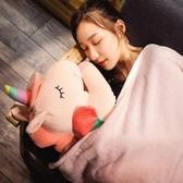 【限時下殺89折】獨角獸汽車抱枕被子兩用多功能午睡枕頭空調毯子珊瑚絨個性可愛女