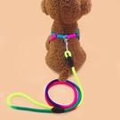 牽引繩 牽引繩狗鏈子幼犬遛狗繩子胸帶小型犬比熊泰迪狗貓咪寵物用品【快速出貨八折下殺】