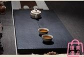 茶盤天然小號石頭茶盤整塊石材黑金石茶海簡約【匯美優品】