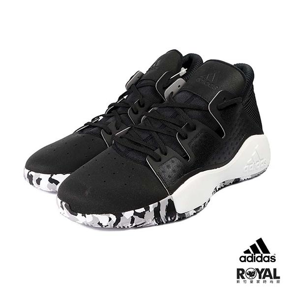 Adidas 新竹皇家 Pro Vision 黑色 織布 皮質 套入式 運動籃球鞋 男款 NO.B0670