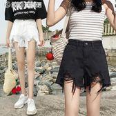 牛仔短褲 短褲女夏韓版寬鬆學生百搭高腰牛仔闊腿a字顯瘦熱褲 繽紛創意家居