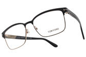 TOM FORD 光學眼鏡 TOM5323 002 (黑-金) 時尚復古款 眉框眼鏡 # 金橘眼鏡
