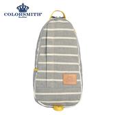 【COLORSMITH】PU.蛋型後背包-灰色橫條紋・PU1326-GY