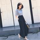 套裝 時尚揹帶寬管褲套裝女短袖2020夏季新款網紅洋氣小個子顯瘦兩件套
