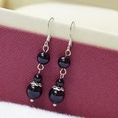 【喨喨飾品】黑玉髓珠珠流行耳環 S36