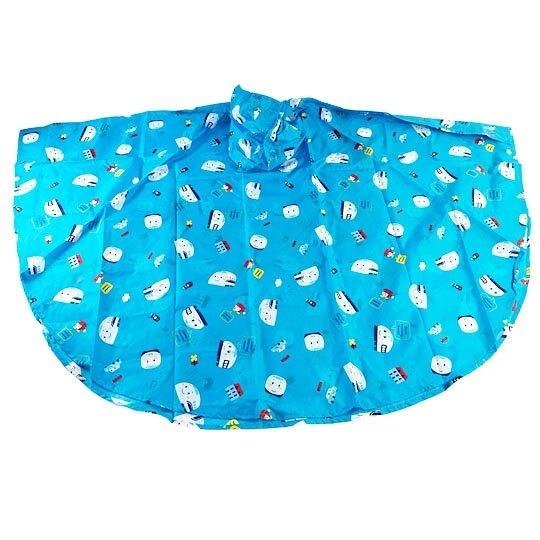 小禮堂 RB工程車 兒童披風式雨衣 附收納袋 斗篷雨衣 兒童雨衣 130-145cm (L 藍) 5713304-52098