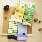 襪子 古著復古 日本氣質個性 SEIO 經典個性獨特圖型 俏皮撞色 簡約細條大圓點點 襪子 (隨機出貨)