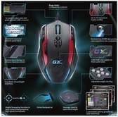 新竹【超人3C】 GX Gaming Gila 雷霆蠍 - 專業次世代MMO/RTS 專業雷射遊戲滑鼠