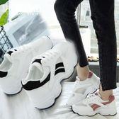 夏季女鞋透氣網面運動鞋厚底休閒bf風旅游鞋單網鞋女 魔法街