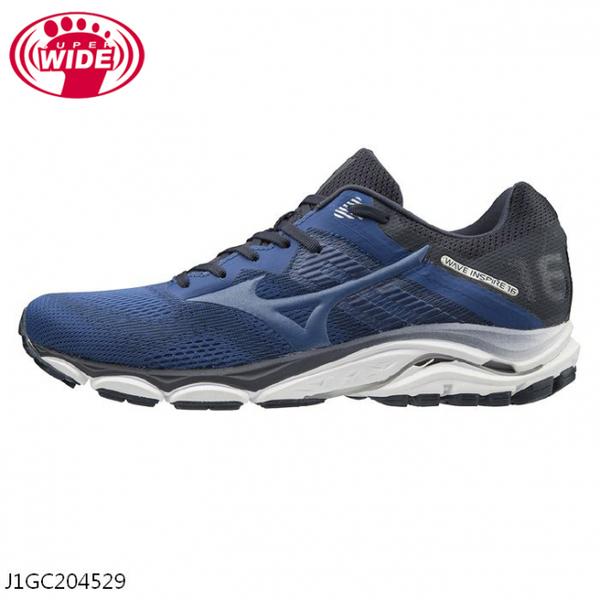 MIZUNO WAVE INSPIRE 16 SW 男鞋 慢跑 路跑 4E 寬楦 耐磨 避震 藍【運動世界】J1GC204529
