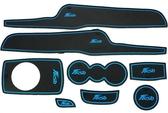 福特 Fiesta 嘉年華 專車專用 8片式 滑防水製震 杯墊 置物墊 門邊墊 止滑墊 防水墊