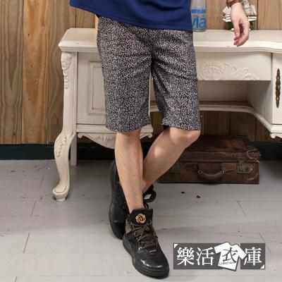 【88095】日系雅痞水蜜桃布時尚鬆緊抽繩短褲● 樂活衣庫