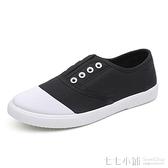 夏季新款帆布懶人鞋女一腳蹬韓版百搭板鞋原宿風ulzzang布鞋