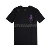 NIKE 短袖T恤 Kobe Logo Dri-FIT 黑 紫 男女款 黑曼巴 運動休閒 【ACS】 CV1043-010