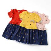 短袖洋裝 蝴蝶結 女寶寶 連衣裙 夏日透氣 洋裝 連身裙 嬰兒童裝 SG96110