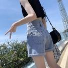 超高腰牛仔短褲女夏季新款寬鬆淺色a字顯瘦潮流百搭熱褲潮ins