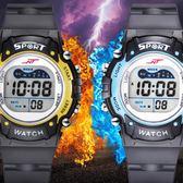 手錶 唯艾時兒童手表男孩防水夜光小學生手表運動多功能電子表男童手表