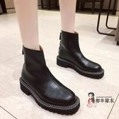切爾西靴 2019秋季新款英倫風女百搭短靴單靴切爾西靴ins瘦瘦靴 35-39