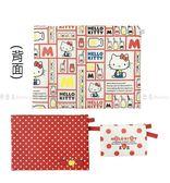 【KP】Hello Kitty 繽紛扁平收納袋 多功能拉鍊袋 3入 正版日本進口授權