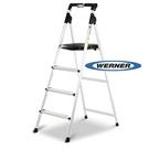 美國Werner 穩耐安全梯 AJ4-1 大平台4階 鋁梯 家用梯 A字梯 梯子 /組 (出貨後無法退換貨)