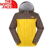 【The North Face 男 HyVent 2.5L防水外套 鳶尾黃/灰咖啡  】 NF00CGL3/防水外套/防水★滿額送