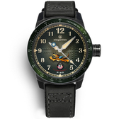elegantsis / ELJX48MAS-FT-NEG02LC / 預購優惠價 飛虎隊限量腕錶 義大利皮革帆布錶帶 墨綠色 45.5mm