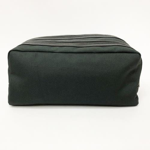 【COACH】LOGO壓印輕型帆布手拿包中性男款公事休閒兩用(墨綠)
