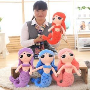 ♥巨安網購♥【HB20160419】毛絨玩具美人魚公仔 送女朋友的生日禮物(30cm)