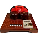 象棋 康譽成人兒童初學者圍棋五子棋黑白棋子套裝楠竹刻線棋墩送棋包 - 古梵希