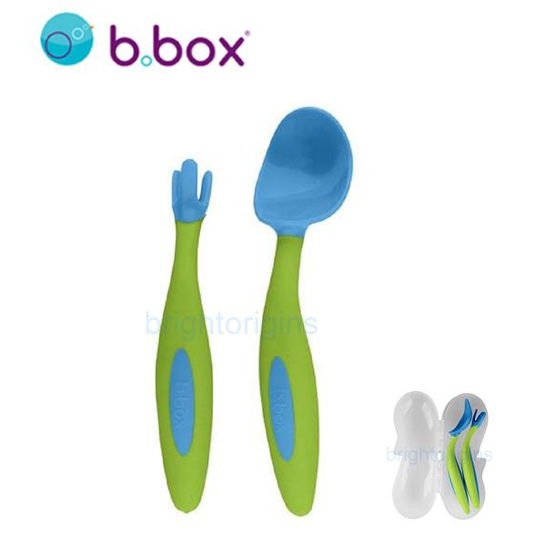 澳洲 b.box 專利湯匙叉子組(海洋藍)