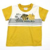 【愛的世界】純棉圓領河馬短袖上衣-黃/3歲-台灣製- ★春夏上著