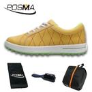 高爾夫球鞋 女款運動休閒鞋 無釘鞋 透氣防水 GSH033YEL