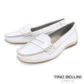 Tino Bellini 巴西進口經典復刻漆皮休閒莫卡辛鞋 _ 亮白 B83247 歐洲進口款