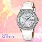 CASIO手錶專賣店 卡西歐 SHEEN SHE-4800L-7A 女錶 施華洛世奇 防刮礦物玻璃 真皮錶帶