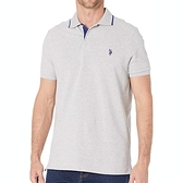 US Polo - 大馬合身Polo衫(淺灰色)
