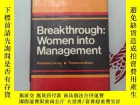 二手書博民逛書店Breakthrough:Women罕見into ManagementY248636