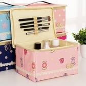 旅行防水大容量牛津布化妝品收納包手提化妝包化妝盒收納箱盒韓版 居享優品