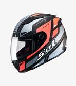 【OUTLET出清商品】SOL SF-3 遊騎兵 消光黑/灰藍紅 全罩安全帽